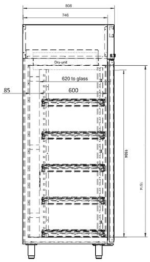 XSDB 701-52 Technical Drawing
