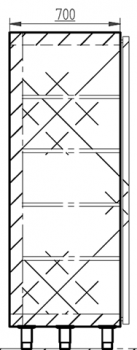 XSDV series technical drawing
