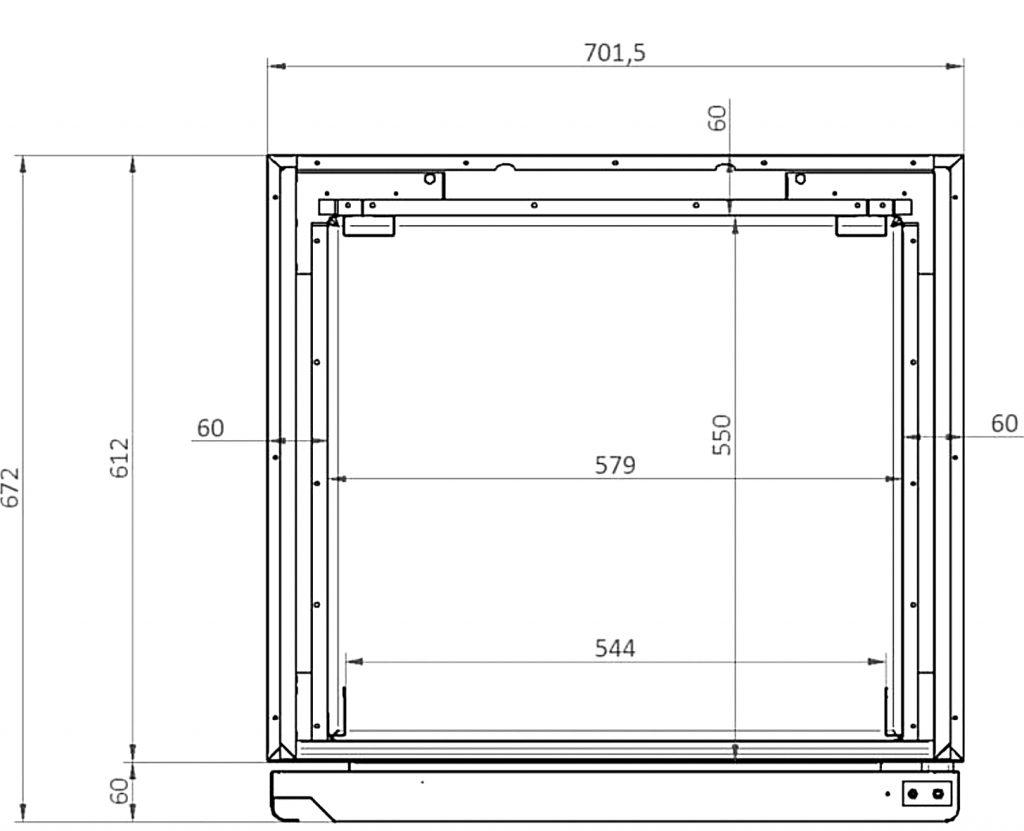 trockenschrank k hlschrank xsdc 601 02 pr zise k hlung. Black Bedroom Furniture Sets. Home Design Ideas