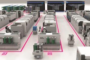 automatisiertes Lager- und Handhabungskomponenten