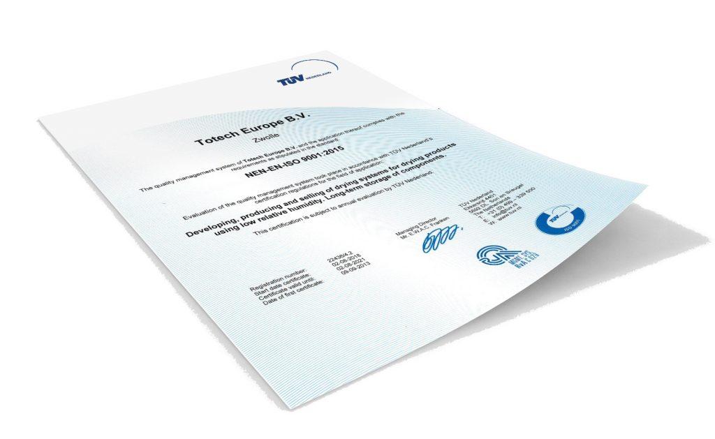 ISO 9001:2015-Zertifizierung