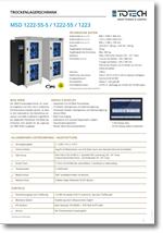 Datenblatt Trockenschränke - Serie MSD