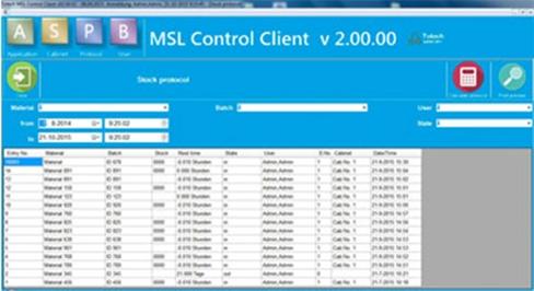 MSL2.0 software-Bauteilüberwachung