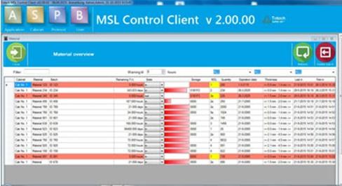 MSL2.0 software - Bauteillogistik